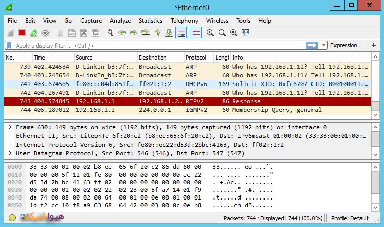 کار با نرم افزار Wireshark -3