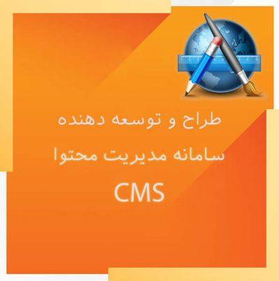 طراح و توسعه دهنده سامانه مدیریت محتوا CMS