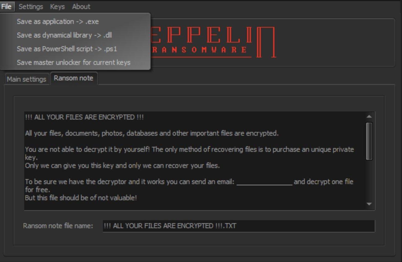 باج افزار zeppelin